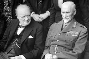 Smuts with Churchill during World War II / flickr.com