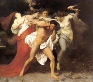 The Furies pursue a Ptolemy for matricide, from a painting by W.A.Bougereau / en.wikipedia.org