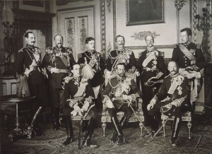 Nine kings - an historic photograph made in 1910