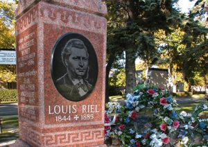 The Grave of Louis Riel,one of the founders of Manitoba / tourismerial.com