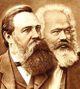 Two beards together: Engels and Marx / plano-sur.com