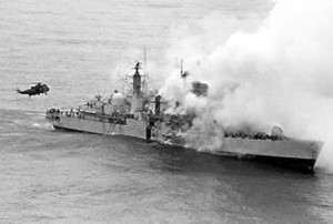 The sinking of HMS Sheffield / theatlantic.com