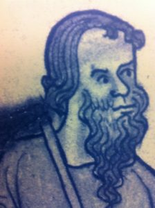 Diarmid, King of Leinster, from a contemporary drawing
