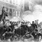 The riot in the Haymarket Square