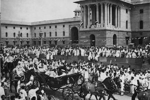 Last splendours of the 'Raj'; Mountbatten after his swearing-in a Viceroy /en wikipedia.org