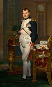 Napoleon in his study in the Tuileries, a study by David  /es.wikipedia.org