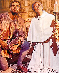 Rex Harrison suitable pious as Julius Ii (right) & Charlton Heston wooden as Michaelangelo (left) in a Hollywood extravaganza / m759.net